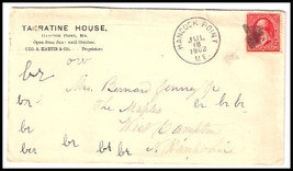 1902 Hancock Point, ME/West Campton, NH (DPO) Postal Cover - $7.99