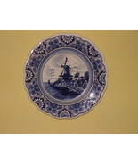 "DELFT  BLUE  * WINDMILL PLATE *  7 1.4"" ROUND - HANDPAINTED - MADE IN HO... - $11.99"