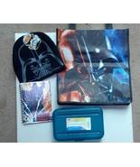 Darth Vader Beanie Hat & Journal with Pencil Box & Tote ~ Star Wars Bund... - $33.77