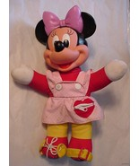 "Vintage Minnie Mouse Disney Plush/Plastic Toy Doll 15"" boys and girls - $19.75"