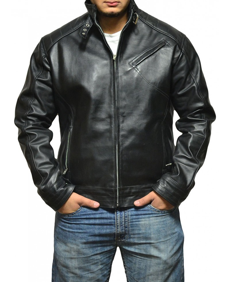 Jeremy renner bourne legacy replica men leather jacket