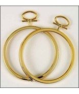 "CLEARANCE Gold Small Ornament frames 2.5"" diameter 2/pkg  - $2.00"