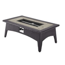 "Splender 43.5"" Rectangle Outdoor Patio Fire Pit Table Espresso EEI-2991-EXP - $670.75"