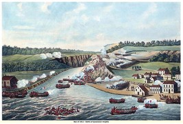 "WAR of 1812, ""Battle of Queenston Heights"", 13 x 10 inch GICLEE CANVAS ... - $19.95"