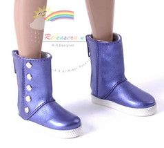 Releaserain Doll Shoes 5-Stud Boots M.Violet fo... - $19.79