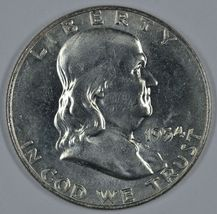 1954 D Franklin uncirculated silver half dollar  - $23.00