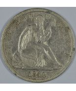1842 Seated Liberty circulated silver half dollar  Medium date FS-301/WB... - $250.00