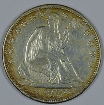 1855 O Seated Liberty circulated silver half dollar VF+ details Doubling... - $175.00