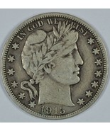 1915 S Barber circulated silver half VF details - $135.00