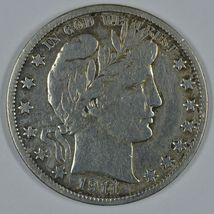 1911 S Barber circulated silver half F details - $25.00