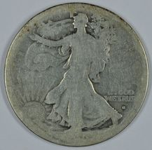 1916 S Walking liberty circulated silver half dollar Obverse mint mark - $57.50
