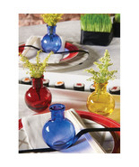 Colored Mini Bud Vases Pack of 5 - $20.95