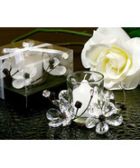 Elegant Black & White Crystals Flower Candle Ho... - $3.95