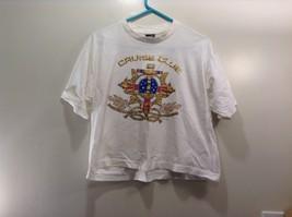 Diamond Dust White T-Shirt w Red White Blue Gold Cruise Club Design
