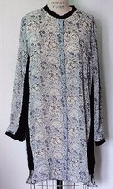 NEW H&M POLYESTER GRAY TEA STAINED FLORAL PRINT... - $34.60