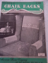 Vintage Star Book Chair Backs Crochet Patten Book American Thread Compan... - $5.99