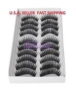 #1abc: 3 x 10 Pairs Black Long False Eyelashes+Free gift - $7.49