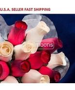 One Dozen Wooden Roses Bouquet -- Red - $15.99