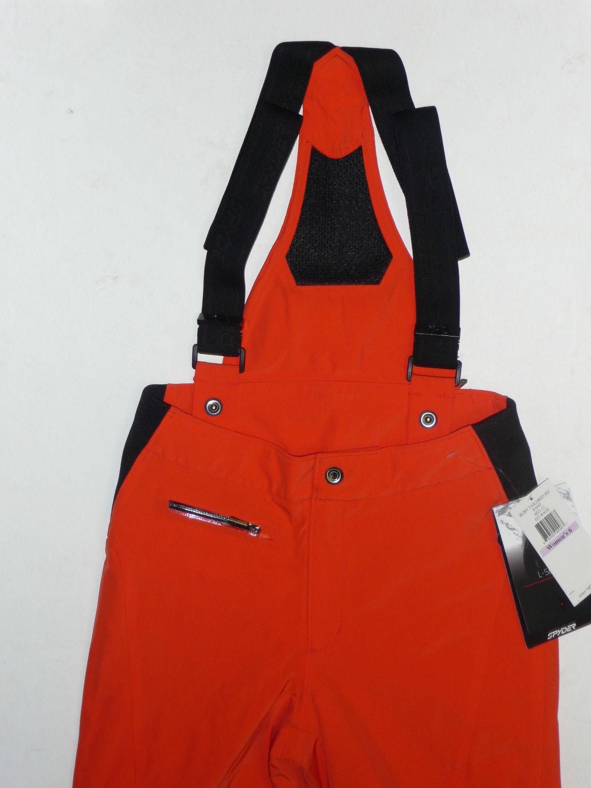 Spyder Ruby Pants Womens Ski Snowboard 20k Waterproof Insulated Orange 6 $400 image 2