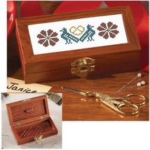 """Bristol Magnetic Needlecase 5""""w x 2.5""""d x 1.25""""h sewing cross stitch chest  - $18.00"""