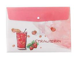 [A] Set of 5 Plastic Envelope File Folders/Pouch with Snap Closure - £9.47 GBP