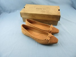 Born Womens SZ 8.5 M  Brown Snake Cork Embossed Carri Flat  D92106 NIB - $32.50