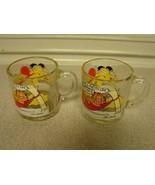 Garfield mugs 1978 McDonalds glass coffee mugs pair - $8.91