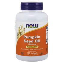Pumpkin Seed Oil 1000mg Phytosterols 100gels Now Foods 2000mg per 2 Caps - $11.77
