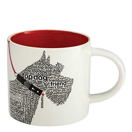 "Enesco Wild About Words Terrier Mug, 3.5"", Multicolor [Kitchen]"