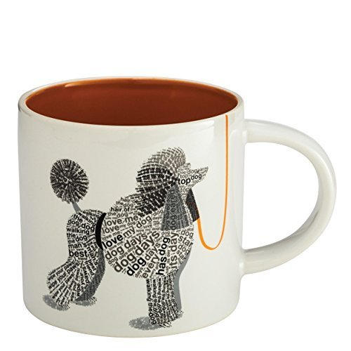 "Enesco Wild About Words Poodle Mug, 3.5"", Multicolor [Kitchen]"