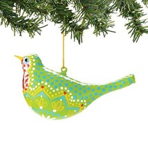 Department 56 Gallery Pattern Bird Ornament, Green [Misc.]