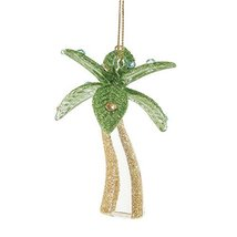 Department 56 Gone to The Beach Glass Palm Tree Ornament [Misc.]