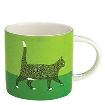 "Enesco Wild About Words Cat Walking Mug, 3.5"", Multicolor [Kitchen]"