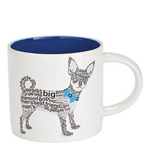 "Enesco Wild About Words Chihuahua Mug, 3.5"", Multicolor [Kitchen]"