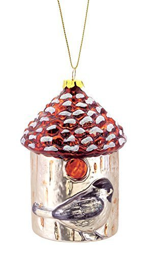 Birdhouse with Chickadee Glass Ornament [Kitchen]
