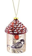 Birdhouse with Chickadee Glass Ornament [Kitchen] - $19.79