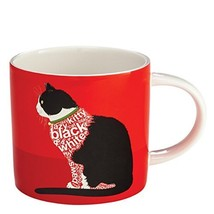 "Enesco Wild About Words Cat Sitting Mug, 3.5"", Multicolor [Kitchen]"