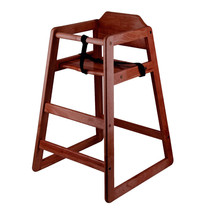 New Restaurant Style Wooden High Chair   -  Assembled - $59.99