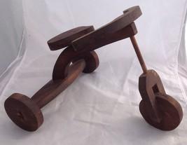 Handmade Wooden Doll Tricycle Primitive Folk Art Display - $24.95