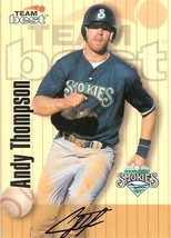 1998 team best autograph andy thompson blue jays baseball card - $4.99