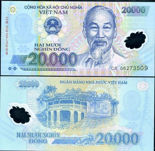 Primary image for AUTHENTIC POLYMER MONEY 10 PSC VIETNAM 20000 DONG BANKNOTES MONEY = 200000 DONG