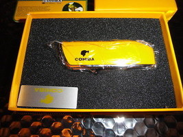 COHIBA  Stainless Steel Dual Blades Cigar Cutter &  Lighter in boxes - $90.25