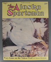 Vintage 1952 Magazine-The Alaska Sportsman-Wary Game on the Yukon Trail - $9.95