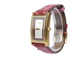 Auth GUCCI 2600L Silver & Bordeaux Dial Leather Band Women's Watch GW12336L - $171.17 CAD