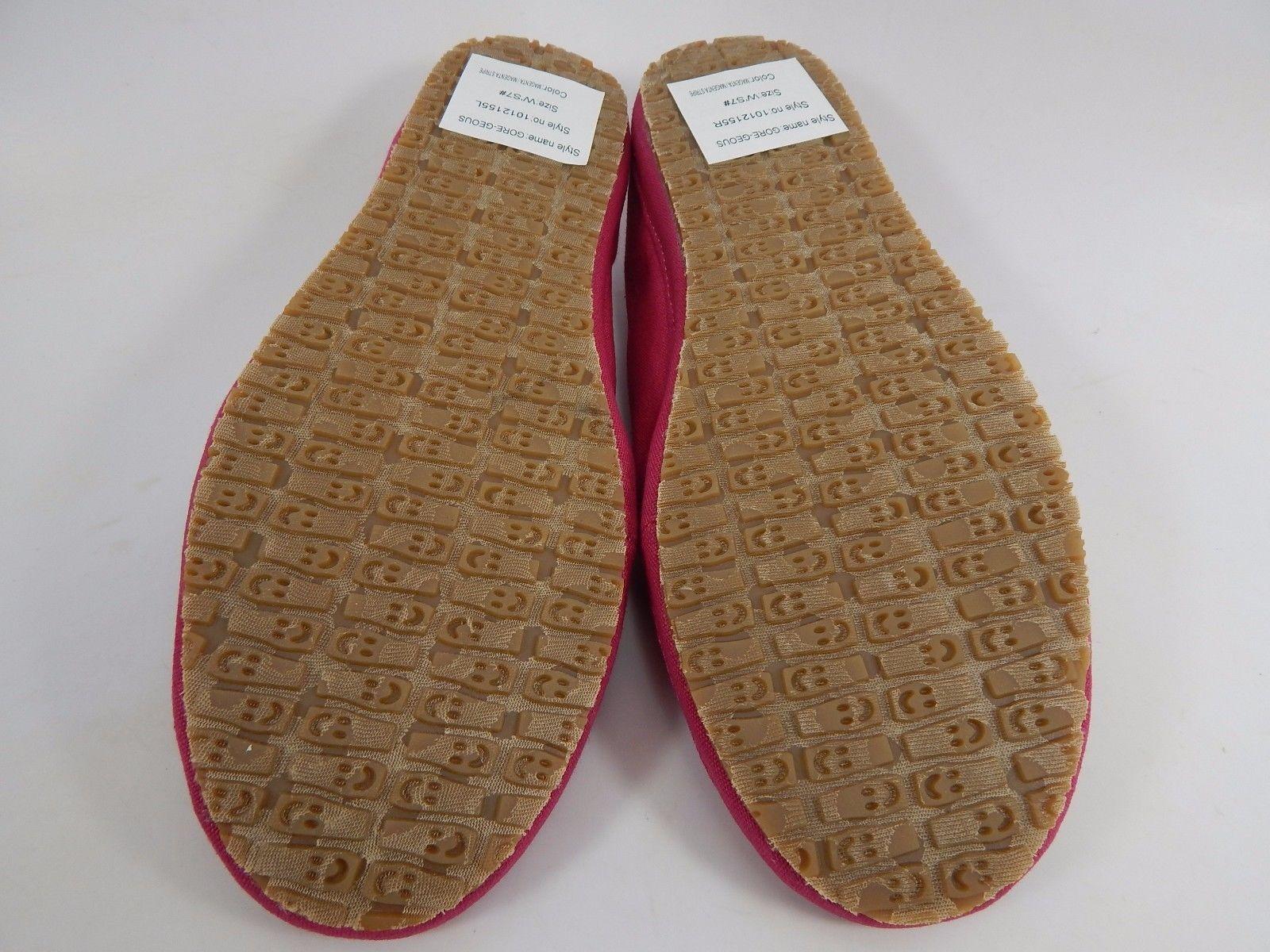Sanuk Gore-Geous Magenta / Stripe Women's Casual Sandals Shoes Size US 7 M (B)