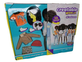 """NEW Mattel Creatable World """"Black Curly Hair"""" Deluxe Character Kit DC-319 - $26.55"""