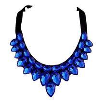 [Blue Drops] Women Acrylic Choker Necklace False Collar Removable Fake Collar
