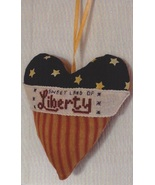 Sweet Land of Liberty Patriotic Pillow Ornament... - $17.00