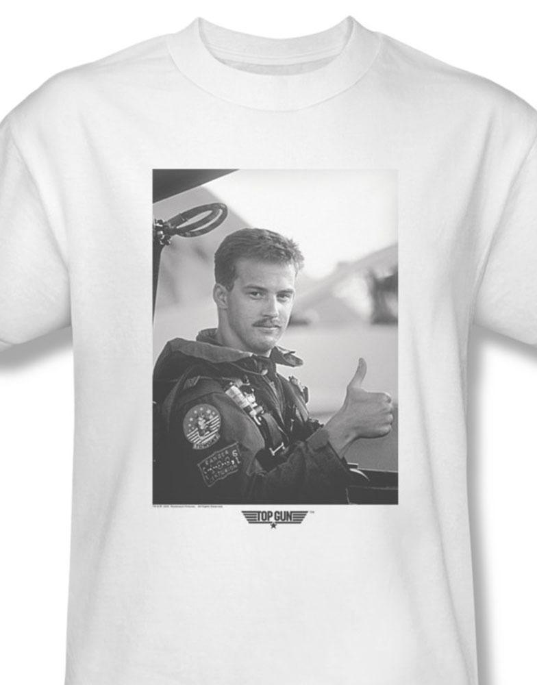 Top gun maverick goose navy pilot for sale online white graphic tee par513 at