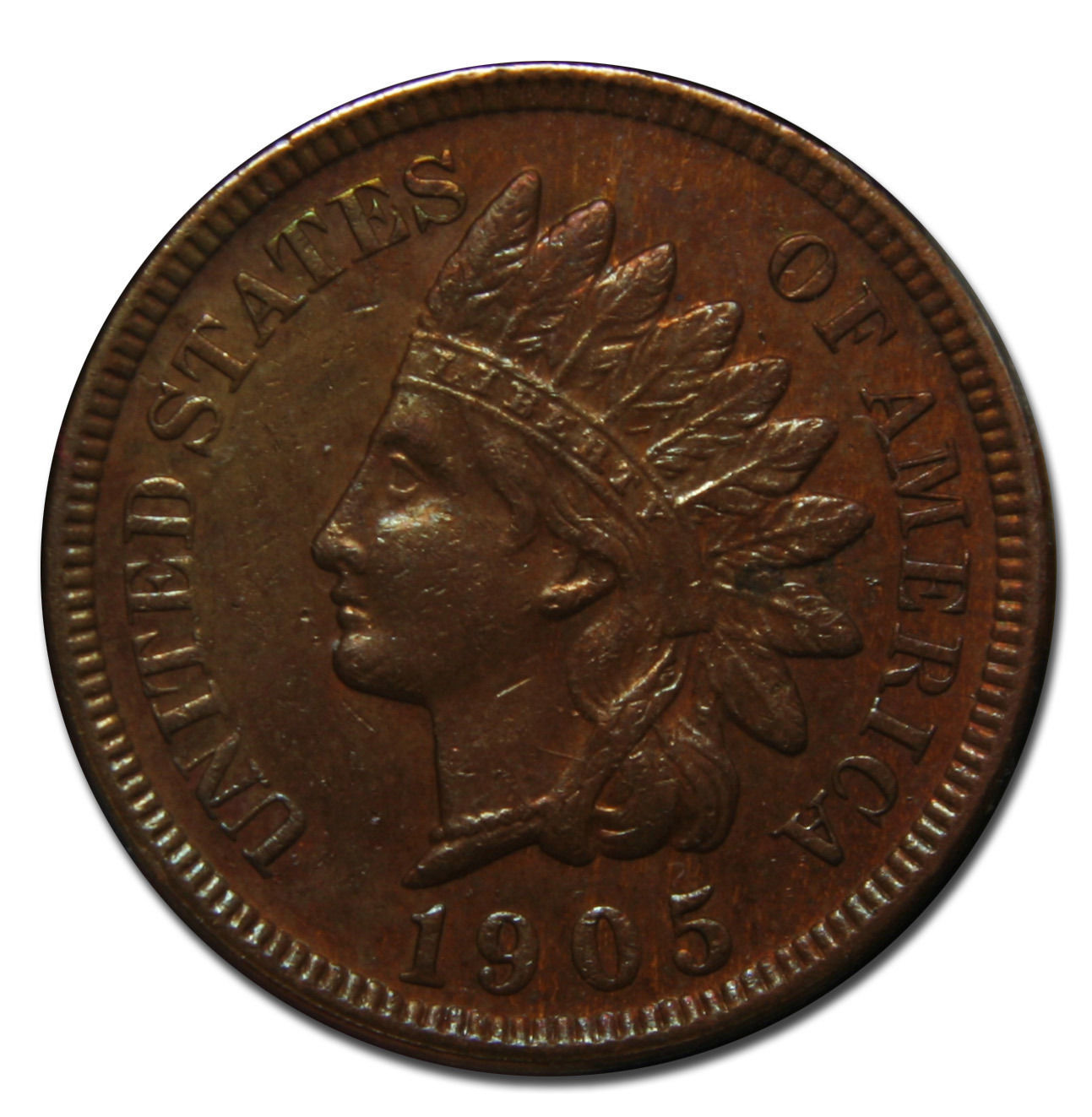 1905 Indian Head Penny / Cent Coin Lot# MZ 3594